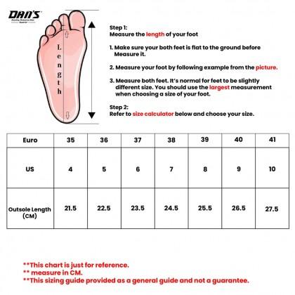 DANS x FV Ladies Slipper Shoes - Black/Apricot V21042(X2)