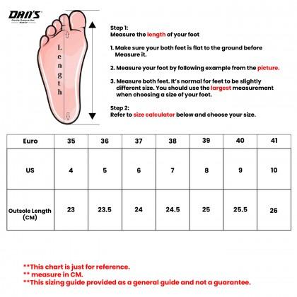 DANS Ladies Wedges Shoes - Black/Pink 1119059904 (X1+X2)