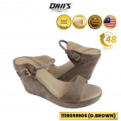 DANS Ladies Wedges Shoes - Black/DBrown 1119059905 (W4)