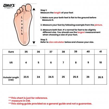 DANS Ladies Wedges Shoes - Black/Apricot 1119059906 (X4)