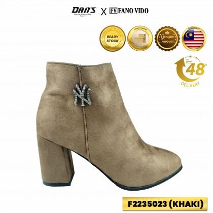 DANS x FV Ladies Boot Shoes - Black/Khaki F2235023 (X3)