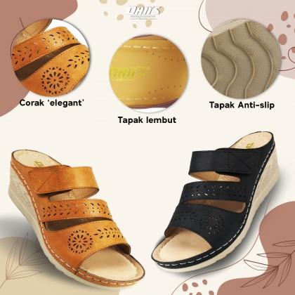 DANS Ladies Comfort Shoes - Black/Camel 04210489184 (EE1,2,3)
