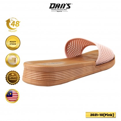 DANS Ladies Slipper Shoes - Black/Pink/Green 2021-10  (A3)