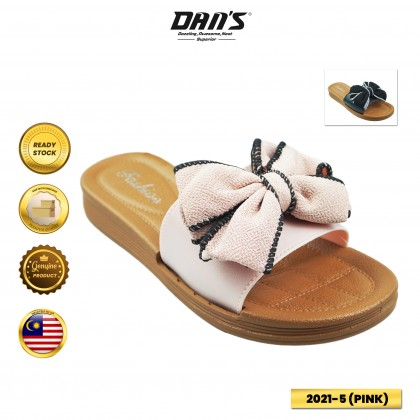 DANS Ladies Slipper Shoes - Black/Pink 2021-5 (T4)